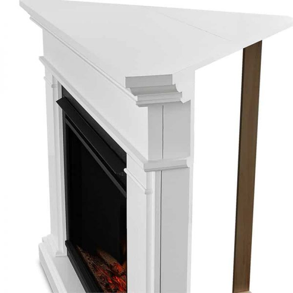 Real Flame Kennedy Grand Corner Electric Fireplace, White 4