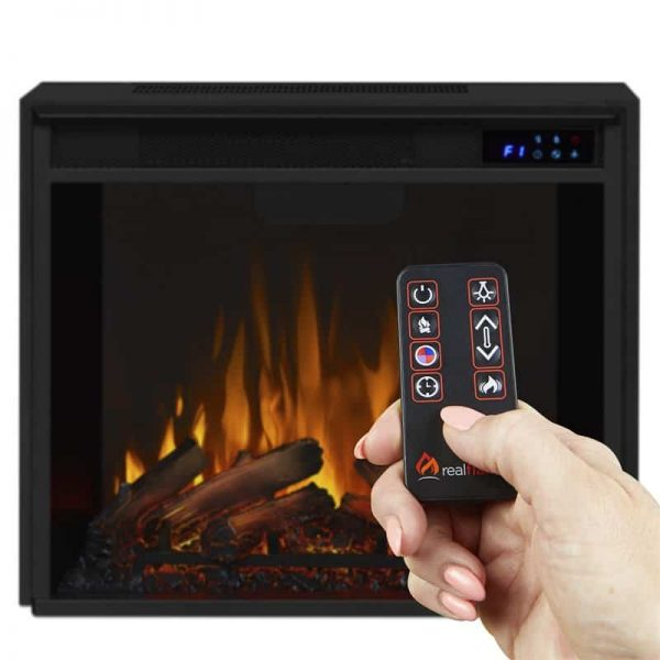 Real Flame VividFlame Electric Firebox in Black 10