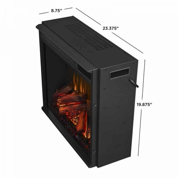 Real Flame VividFlame Electric Firebox in Black 12
