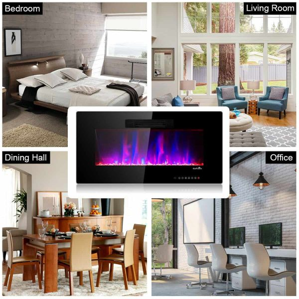 Recessed Wall Mounted Standing Electric Heater Electric Fireplace EP23625EP23626 WC 4
