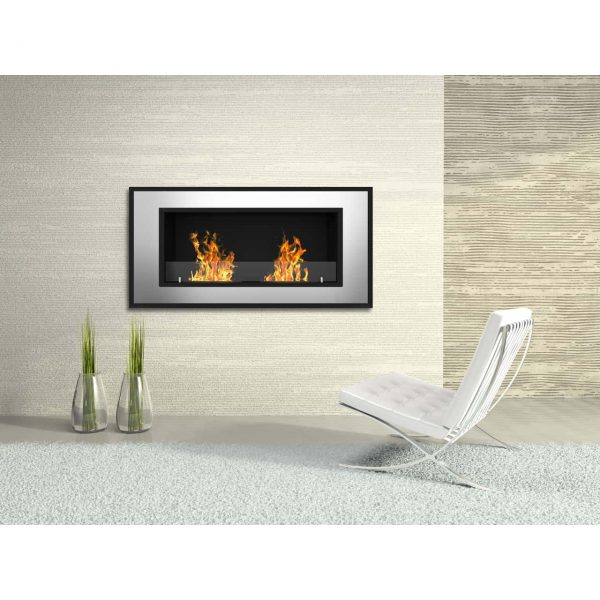 Regal Flame Brooks 47 Inch Ventless Built In Recessed Bio Ethanol Wall Mounted Fireplace 2