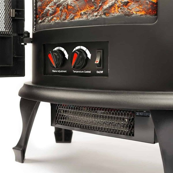 Regal Flame Curved Electric Stove 2