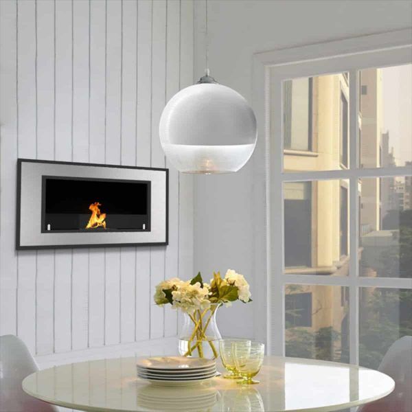 "Regal Flame Cynergy 36"" Ventless Bio Ethanol Wall Mounted Fireplace ER8013 5"