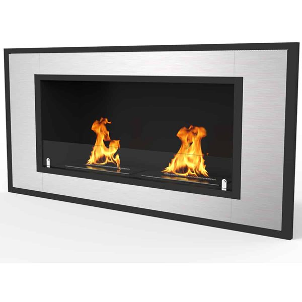 "Regal Flame Cynergy 43"" Ventless Built In Recessed Bio Ethanol Wall Mounted Fireplace 1"