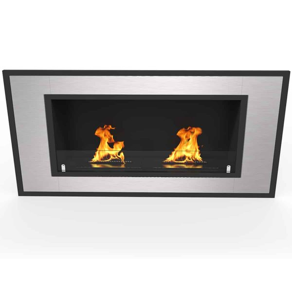 "Regal Flame Cynergy 43"" Ventless Built In Recessed Bio Ethanol Wall Mounted Fireplace 2"