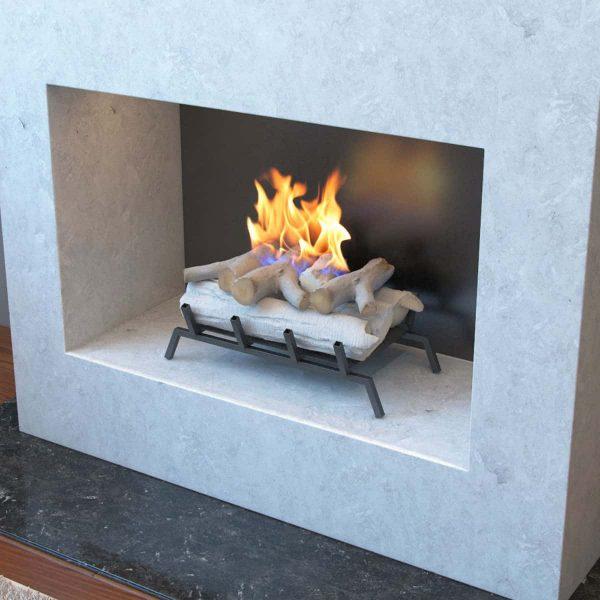 Regal Flame ECK2018BRC-EF 18 in. Birch Convert to Ethanol Fireplace Log Set with Burner 2