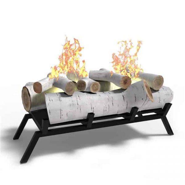 Regal Flame ECK2018BRC-EF 18 in. Birch Convert to Ethanol Fireplace Log Set with Burner