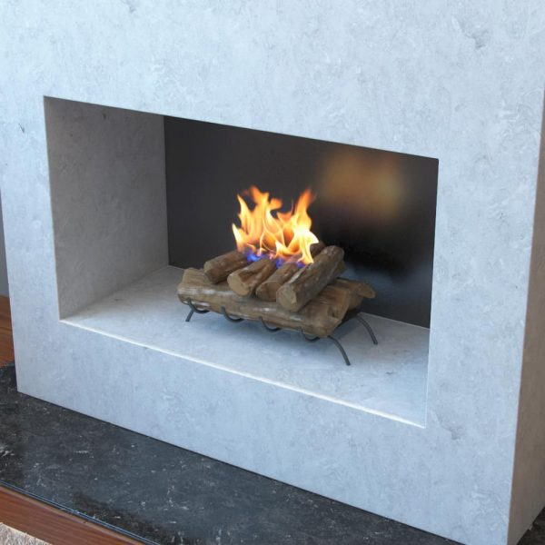 Regal Flame ECK2018WD 18 in. Convert to Ethanol Fireplace Log Set with Burner Insert From Gel or Gas Logs 1