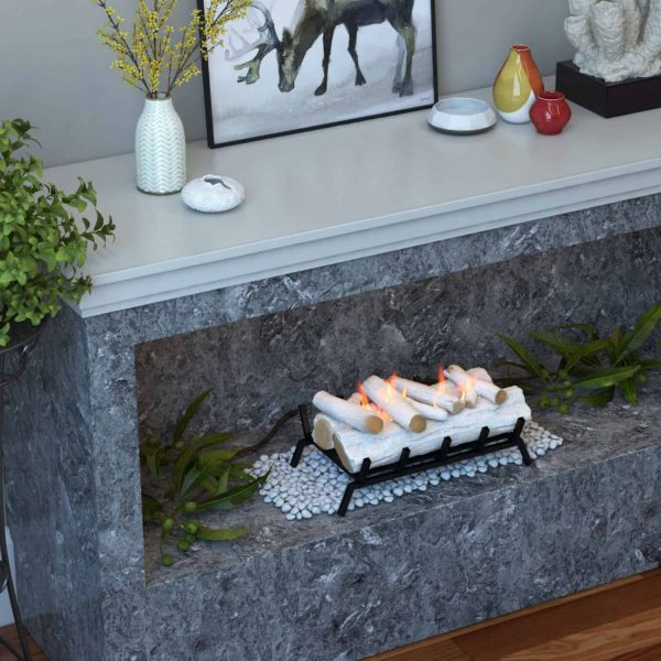 Regal Flame ECK20BRC24 24 in. Convert to Ethanol Fireplace Log Set with Burner Insert from Gel or Gas Logs, Birch - 24 x 10 x 15 in. 3
