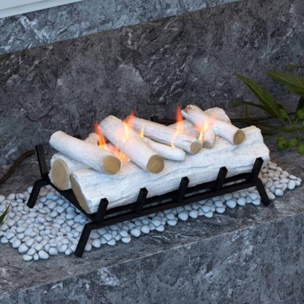 Regal Flame ECK20BRC24 24 in. Convert to Ethanol Fireplace Log Set with Burner Insert from Gel or Gas Logs, Birch - 24 x 10 x 15 in. 4