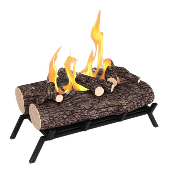 Regal Flame ECK20WD15 18 in. Ethanol Fireplace Grate Log Set with Burner Insert from Gel or Gas Logs, 18 x 4.7 x 13.4 in. 1