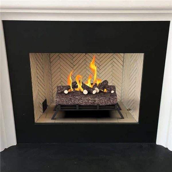 Regal Flame ECK20WD15 18 in. Ethanol Fireplace Grate Log Set with Burner Insert from Gel or Gas Logs