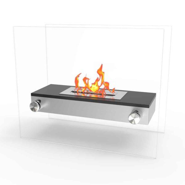 Regal Flame EF6004BK Alor Ventless Free Standing Ethanol Fireplace in Black 1