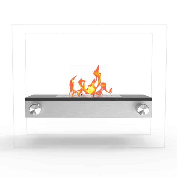 Regal Flame EF6004BK Alor Ventless Free Standing Ethanol Fireplace in Black 2