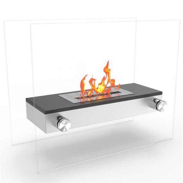 Regal Flame EF6004BK Alor Ventless Free Standing Ethanol Fireplace in Black