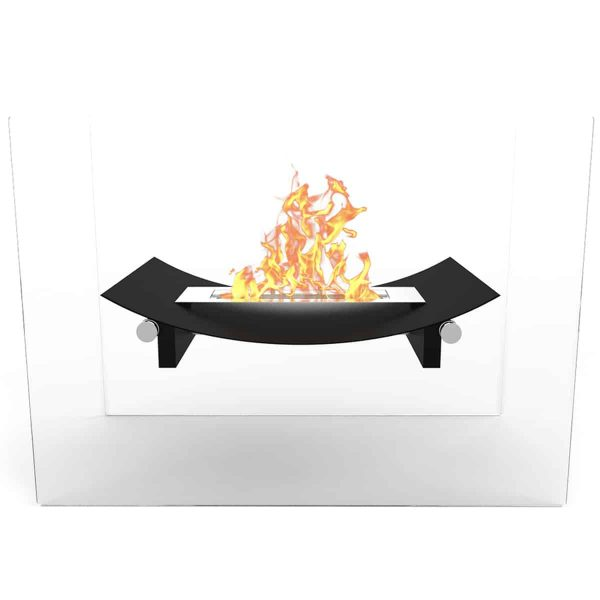 Regal Flame EF6007BK Bow Ventless Free Standing Ethanol Fireplace in Black