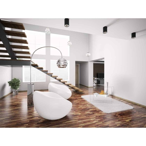 Regal Flame EF6007W Bow Ventless Free Standing Ethanol Fireplace in White 2