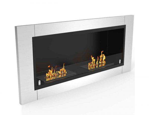 Regal Flame ER8001-EF 43 in. Fargo Ventless Built In Recessed Bio Ethanol Wall Mounted Fireplace 1