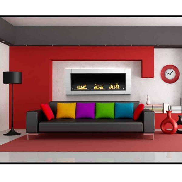 Regal Flame ER8002 Lenox 54in Ventless Bio Ethanol Wall Mounted Fireplace 1
