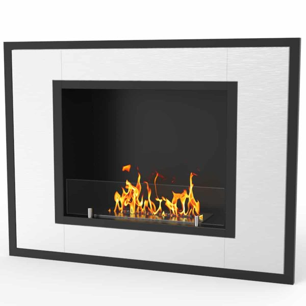 Regal Flame ER8004 Austin 32 in. Ventless Built-In Recessed Bio Ethanol Wall Mounted Fireplace 1