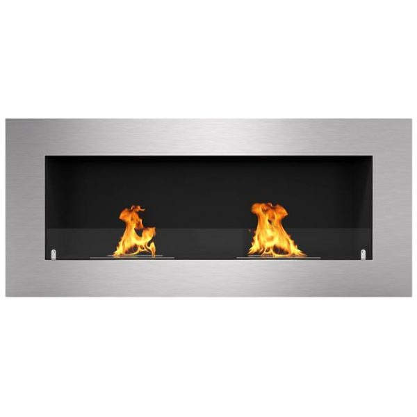 Regal Flame ER8009 Warren 42 in. Pro Ventless Built-In Recessed Bio Ethanol Wall Mounted Fireplace