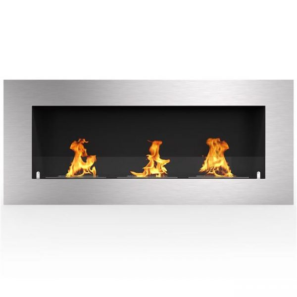 Regal Flame ER8010 Warren 50 in. Pro Ventless Built-In Recessed Bio Ethanol Wall Mounted Fireplace
