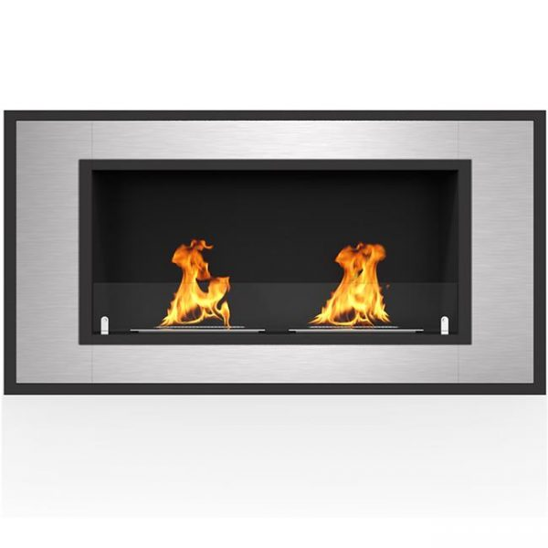 Regal Flame ER8014 Cynergy 43 in. Ventless Built-In Recessed Bio Ethanol Wall Mounted Fireplace