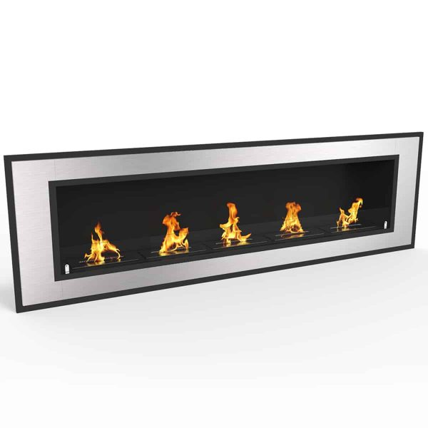 Regal Flame ER8017 Cynergy 72 in. Ventless Built-In Recessed Bio Ethanol Wall Mounted Fireplace 1