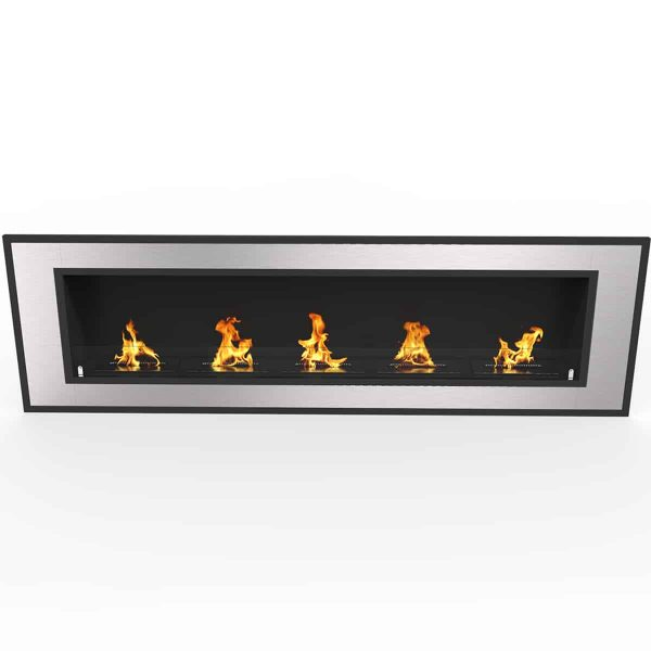 Regal Flame ER8017 Cynergy 72 in. Ventless Built-In Recessed Bio Ethanol Wall Mounted Fireplace 3
