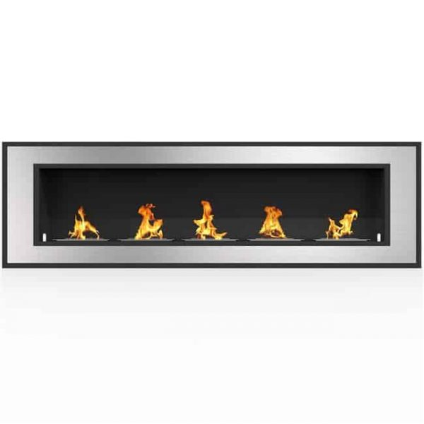Regal Flame ER8017 Cynergy 72 in. Ventless Built-In Recessed Bio Ethanol Wall Mounted Fireplace