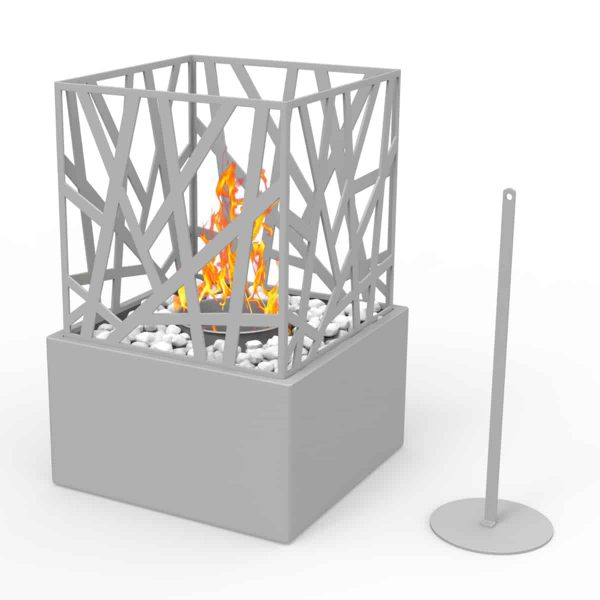 Regal Flame ET7002GRY Bruno Ventless Tabletop Portable Bio Ethanol Fireplace in Gray 1