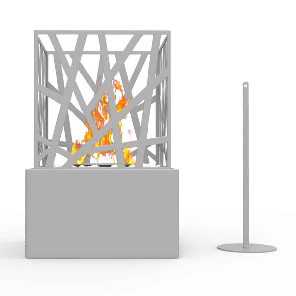 Regal Flame ET7002GRY Bruno Ventless Tabletop Portable Bio Ethanol Fireplace in Gray 2