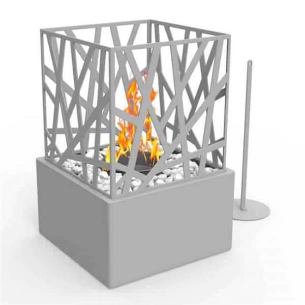 Regal Flame ET7002GRY Bruno Ventless Tabletop Portable Bio Ethanol Fireplace in Gray