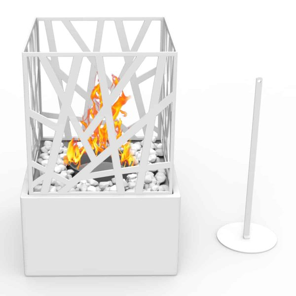 Regal Flame ET7002WHT Bruno Ventless Tabletop Bio Ethanol Fireplace in White 1