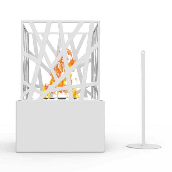 Regal Flame ET7002WHT Bruno Ventless Tabletop Bio Ethanol Fireplace in White 2