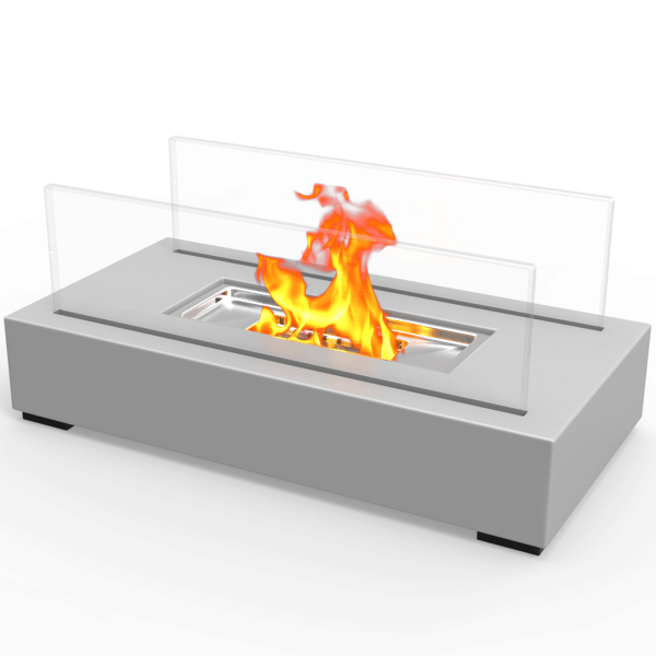 Regal Flame ET7005GRY Utopia Ventless Tabletop Portable Bio Ethanol Fireplace in Gray 1