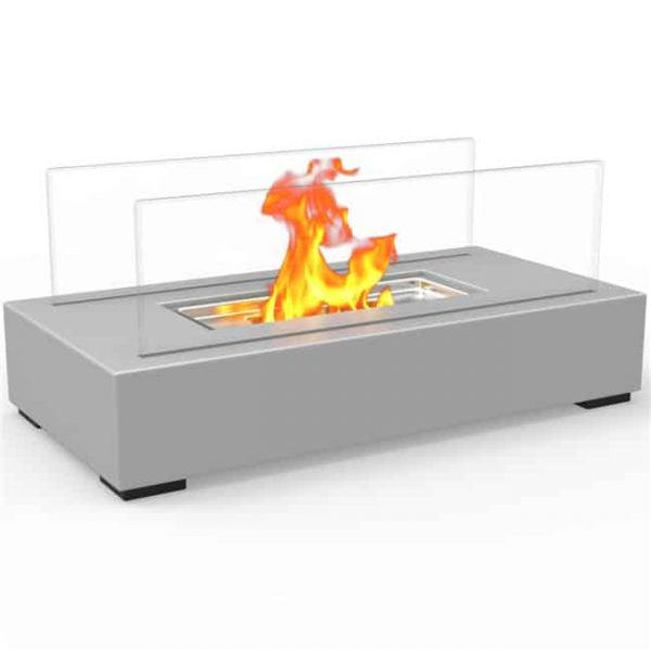 Regal Flame ET7005GRY Utopia Ventless Tabletop Portable Bio Ethanol Fireplace in Gray
