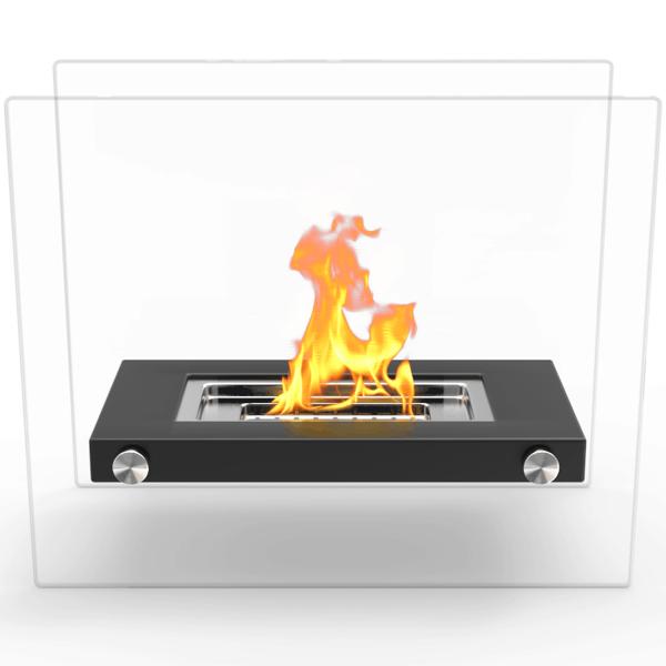 Regal Flame ET7007BLK Monrow Ventless Tabletop Portable Bio Ethanol Fireplace in Black 1