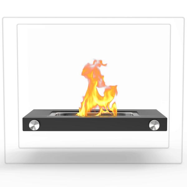 Regal Flame ET7007BLK Monrow Ventless Tabletop Portable Bio Ethanol Fireplace in Black 2