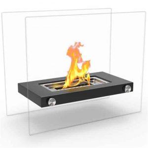 Regal Flame ET7007BLK Monrow Ventless Tabletop Portable Bio Ethanol Fireplace in Black