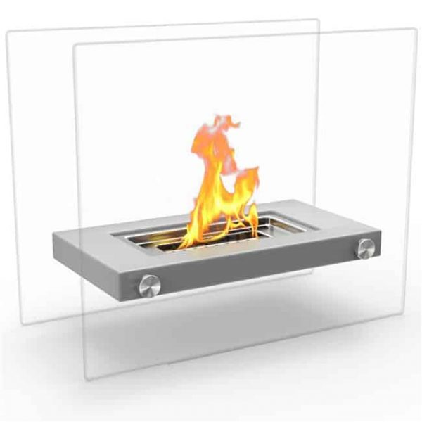 Regal Flame ET7007GRY Monrow Ventless Tabletop Portable Bio Ethanol Fireplace in Gray