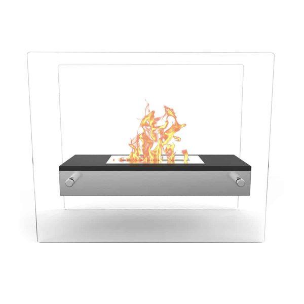 Regal Flame ET7008BK-EF Vista Tabletop Portable Bio Ethanol Fireplace in White 1