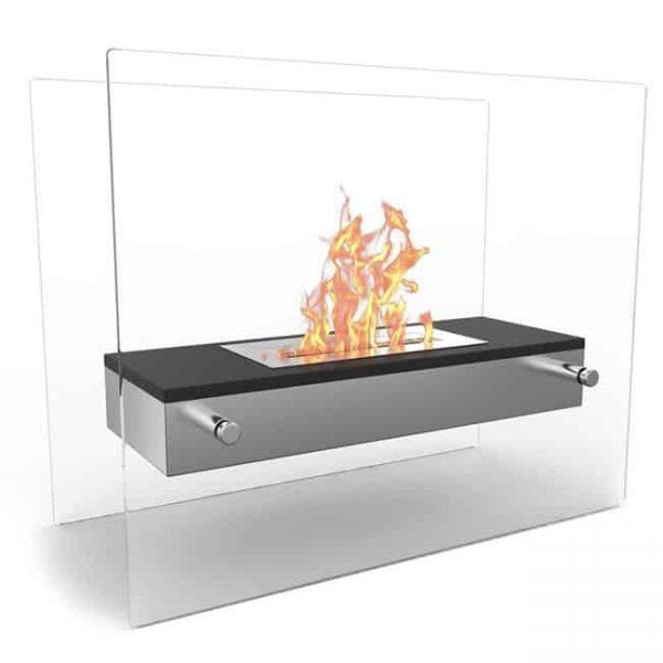 Regal Flame ET7008BK-EF Vista Tabletop Portable Bio Ethanol Fireplace in White