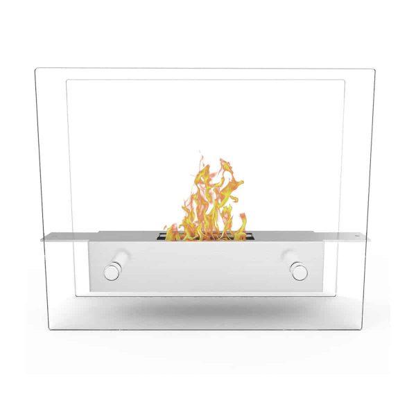 Regal Flame ET7009-MF Lyon Tabletop Portable Bio Ethanol Fireplace in White 1