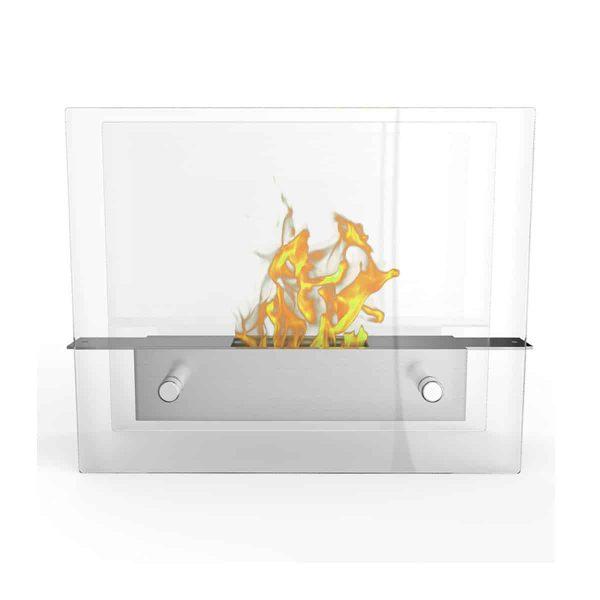 Regal Flame ET7009-MF Lyon Tabletop Portable Bio Ethanol Fireplace in White 2