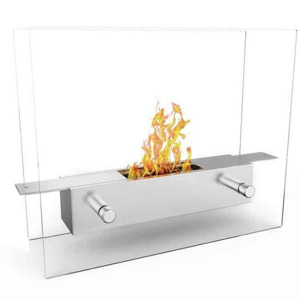 Regal Flame ET7009-MF Lyon Tabletop Portable Bio Ethanol Fireplace in White