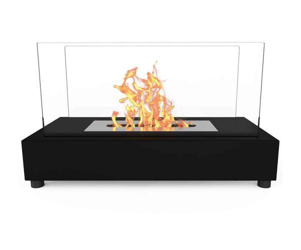 Regal Flame ET7010BK-EF Avon Ventless Tabletop Portable Bio Ethanol Fireplace in Black 1