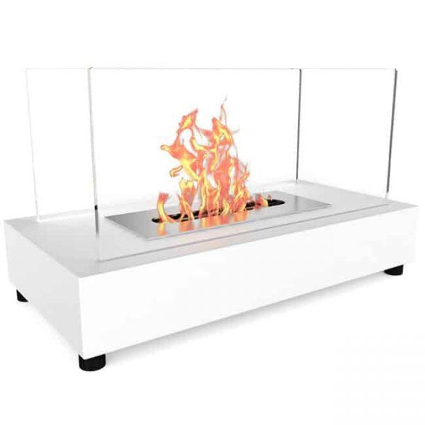 Regal Flame ET7010WHT Avon Tabletop Portable Bio Ethanol Fireplace in White