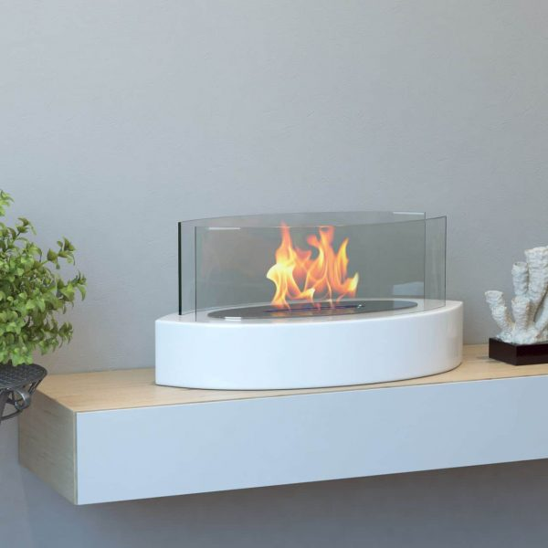 Regal Flame ET7013WHT Veranda Tabletop Portable Bio Ethanol Fireplace in White 1