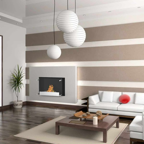 Regal Flame EW9002-EF Milan Ventless Bio Ethanol Wall Mounted Fireplace 1